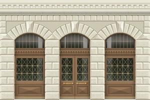 klassische Fassade im Retro-Stil
