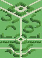 geometriska trädgårdsbuskar