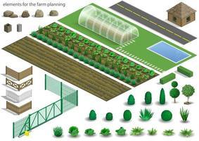 uppsättning element för en gård vektor