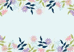vacker pastell blommig ram