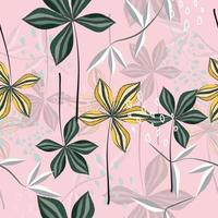 abstrakt blommönster på rosa