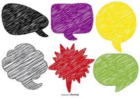 Comic Scribble Style Textbubblor