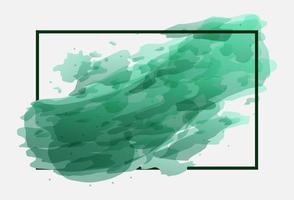 grön akvarell banner design vektor