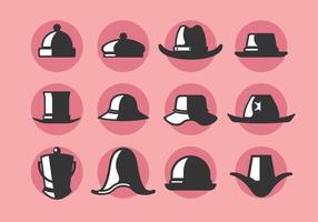Bonnet och hatt vektor ikoner