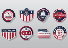 Freie Präsidenten-Siegel-Ikonen-Vektor