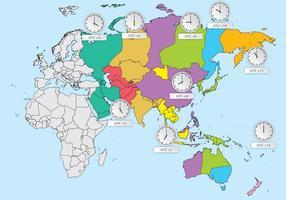 Asien Zeitzonen