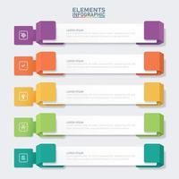 bunte Banner Infografik Elemente Vorlage