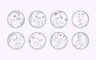 Kostenlose Baby-Pflege Illustration Vektor
