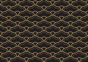 nahtloses ethnisches Seigaiha geometrisches Muster