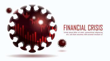 Finanzkrise durch Coronavirus-Design