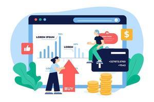 Online-Börsendaten und Kaufdesign
