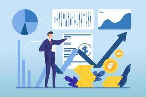 aktiemarknadsanalys av affärsmannen