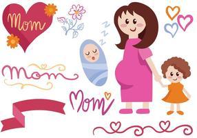 Freie Mutterschaftsvektoren vektor