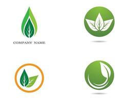 gröna, orange ekologilogotyper vektor