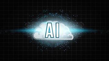 ai-design med hjärn- och partikeleffekt