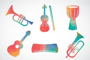Abstrakt Färgglada Musikinstrumentvektor