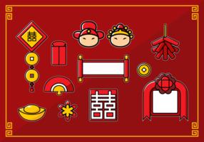 Chinesische Hochzeits-Sammlung