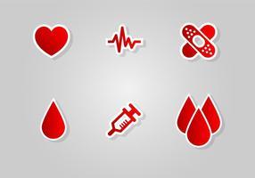 Bloddriven ikon vektor uppsättning