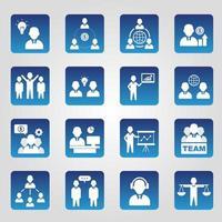 business ikoner samling uppsättning