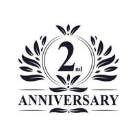 Logo zum 2. Jahrestag vektor