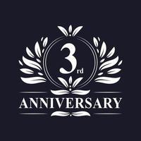 Logo zum 3. Jahrestag vektor