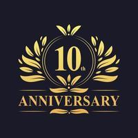 10-årsdagslogotyp vektor