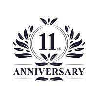Logo zum 11. Jahrestag vektor