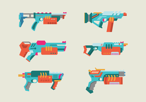 Wasser Pistole bunte Vektor-Pack vektor
