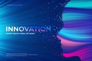 Desintegrationseffekt des Innovationsthemas vektor