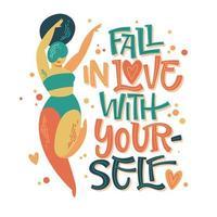 verlieben Sie sich in sich selbst Design