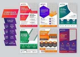 företags flygblad mall kreativa uppsättning