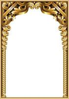 goldener klassischer Barockrahmen