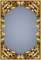 goldener klassischer Rokoko-Rahmen