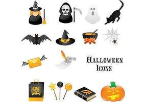 Halloween vektor ikon pack