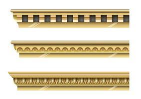 klassiska guld gesimser