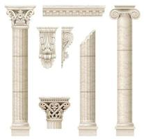 klassische antike Marmorsäulen