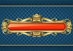 klassiskt guld och rött banner