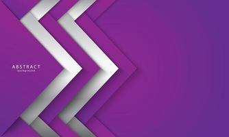 lila und weiß abgewinkelte überlappende Formen vektor