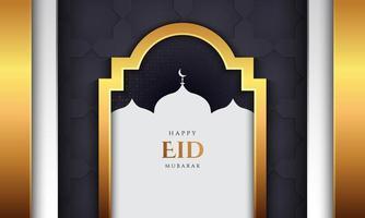 eid mubarak design med gyllene lyxstil