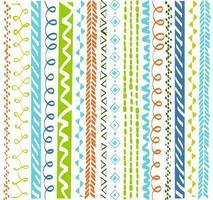 färgglada etniska geometriska mönster