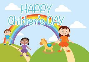 Glückliche Kinder Tag Vektor