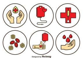 Bloddonationsvektoruppsättning vektor