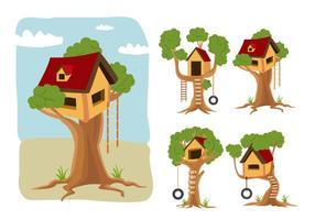 Treehouse vektor tecknad film