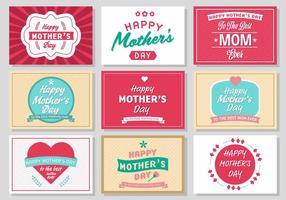 Freier Muttertags-Weinlese-Plakat-Vektor vektor