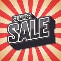 Sommerverkauf roter Sunburst-Hintergrund vektor