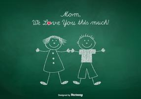 Free Mom Wir lieben Sie Vektor-Illustration vektor