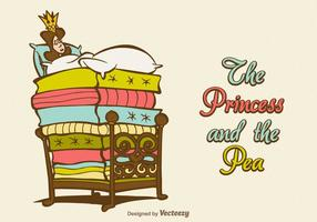 Gratis Vector Prinsessan Och Ärten
