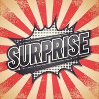Überraschung Retro Sprechblase vektor