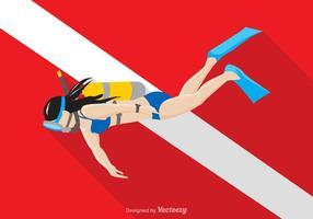 Gratis Vector Scuba Diver Illustration