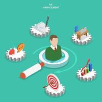 Männerbüste umgeben von HR-Management-Ikonen
